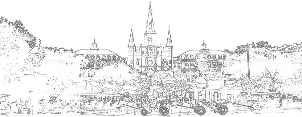Drawing of Jackson Square