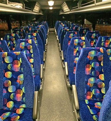 Photo of bus seating